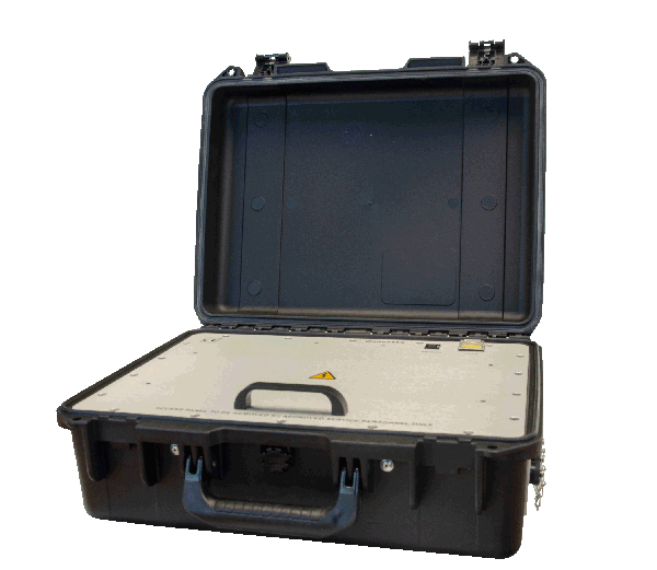 The KNUDSEN Chirp Portable, a heavy duty lightweight echo sounder with a tight-seal water-proof case