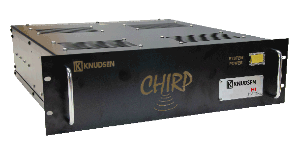 The KNUDSEN Chirp Rack, a deep ocean echo sounder with sub-bottom profiling abilities with sonar