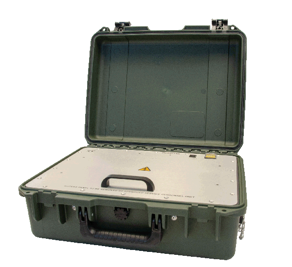 The Knuden Portable Sounder, a heavy duty lightweight echo sounder with a tight-seal water-proof case