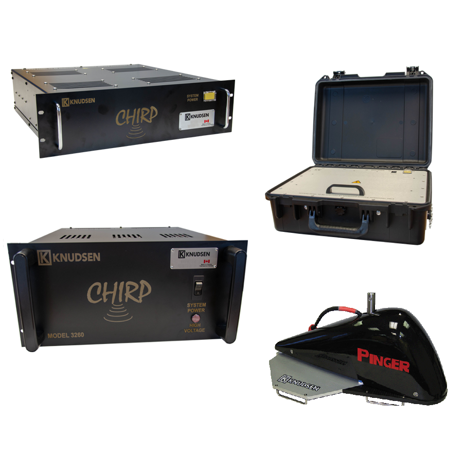 The whole line of Chirp Series echosounder products.