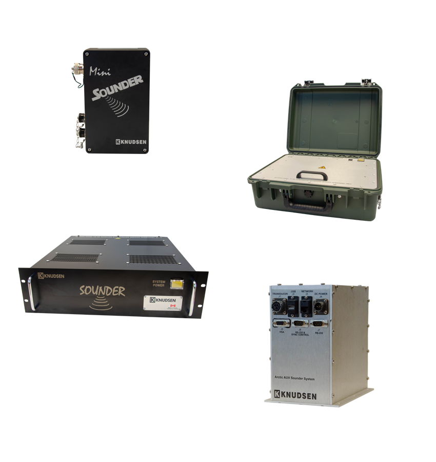 The whole line of Sounder Series echosounder products.